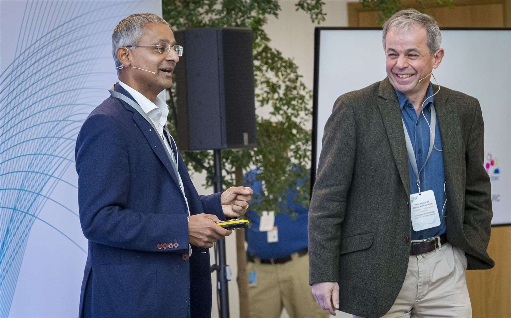 Professor Sir Shankar Balasubramanian and Professor Sir David Klenerman, co-founders of Solexa. Picture: Keith Heppell