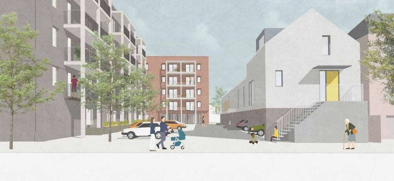 An artist's impression of plans for 75 homes at Orchard Park. Picture: Mole Architects/Cambridge Investment Partnership (42399343)