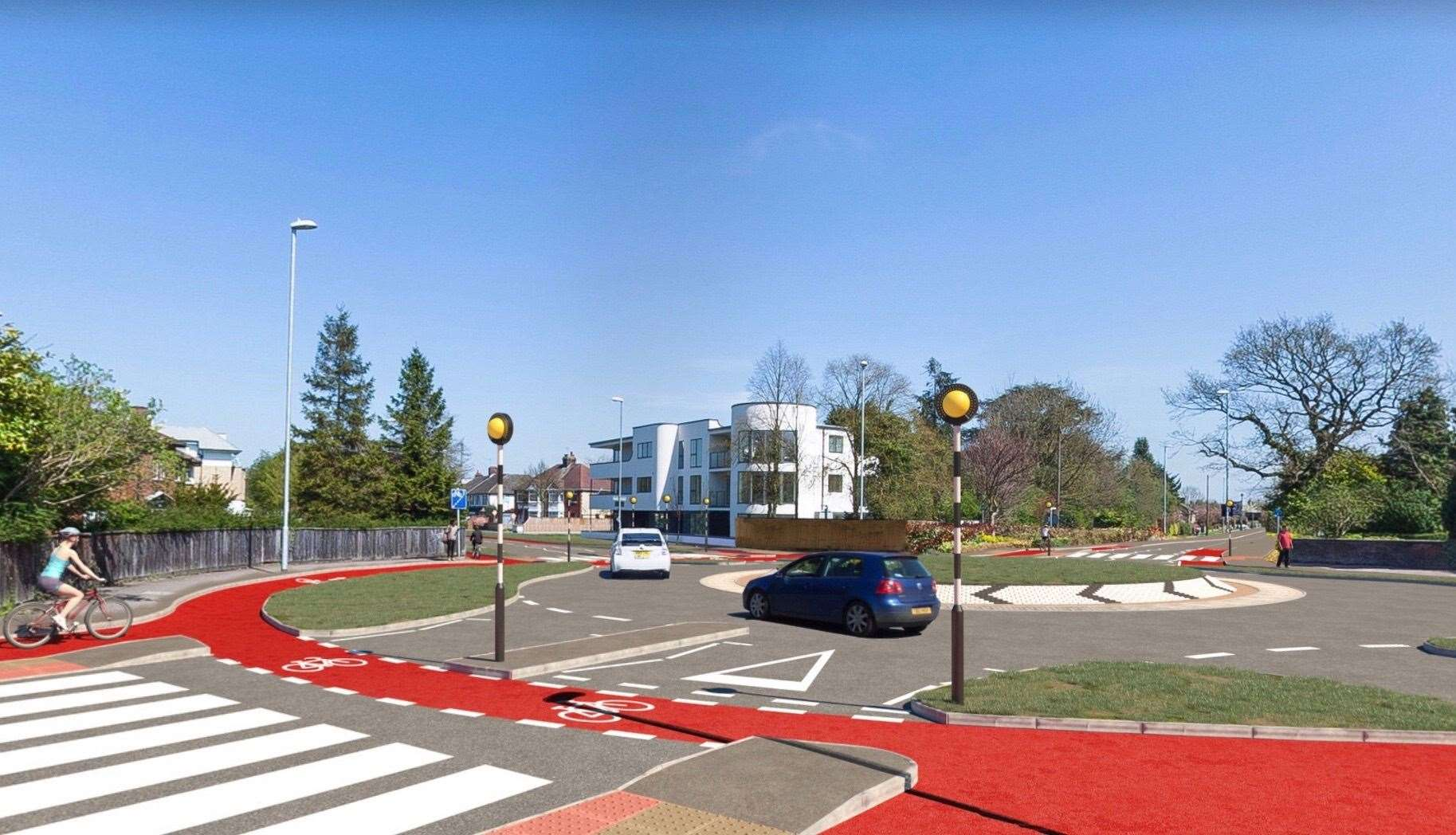 How the Dutch-style roundabout will look
