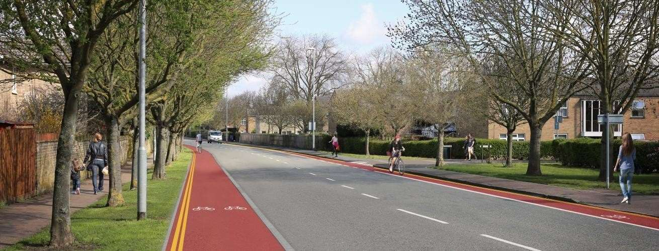 Work has restarted on the Histon Road bus lane and improvement scheme