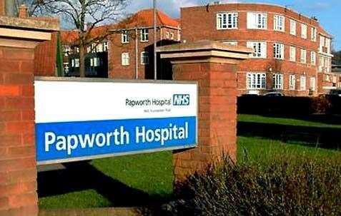 Papworth Hospital Sign. (15005085)