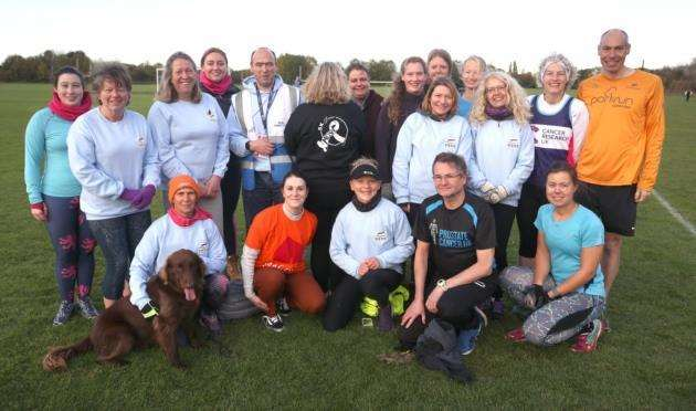 Members of the 5km your way group pictured ahead of the Cambridge Park Run. Picture - Richard Marsham