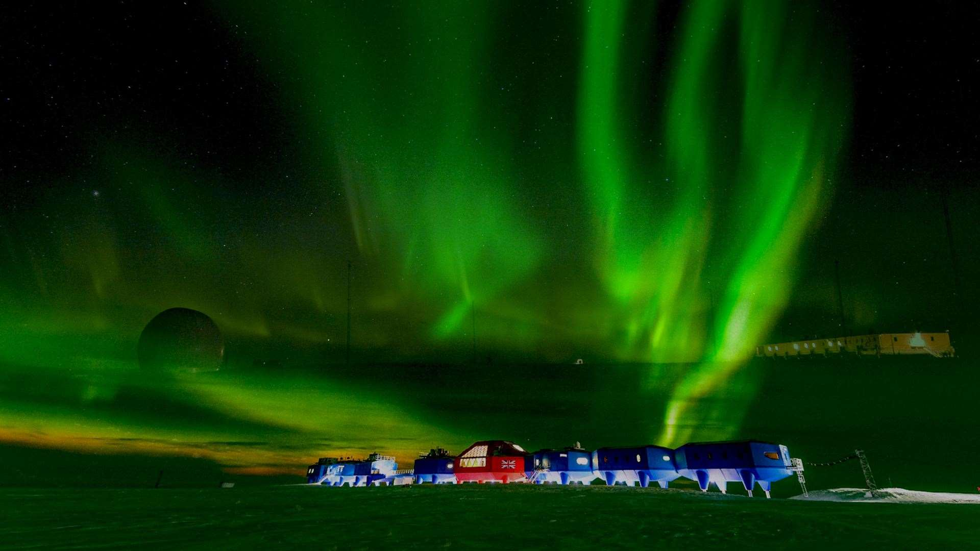 The British Antarctic Survey has helped Diana Scarborough capture the sounds of space weather. Picture: BAS