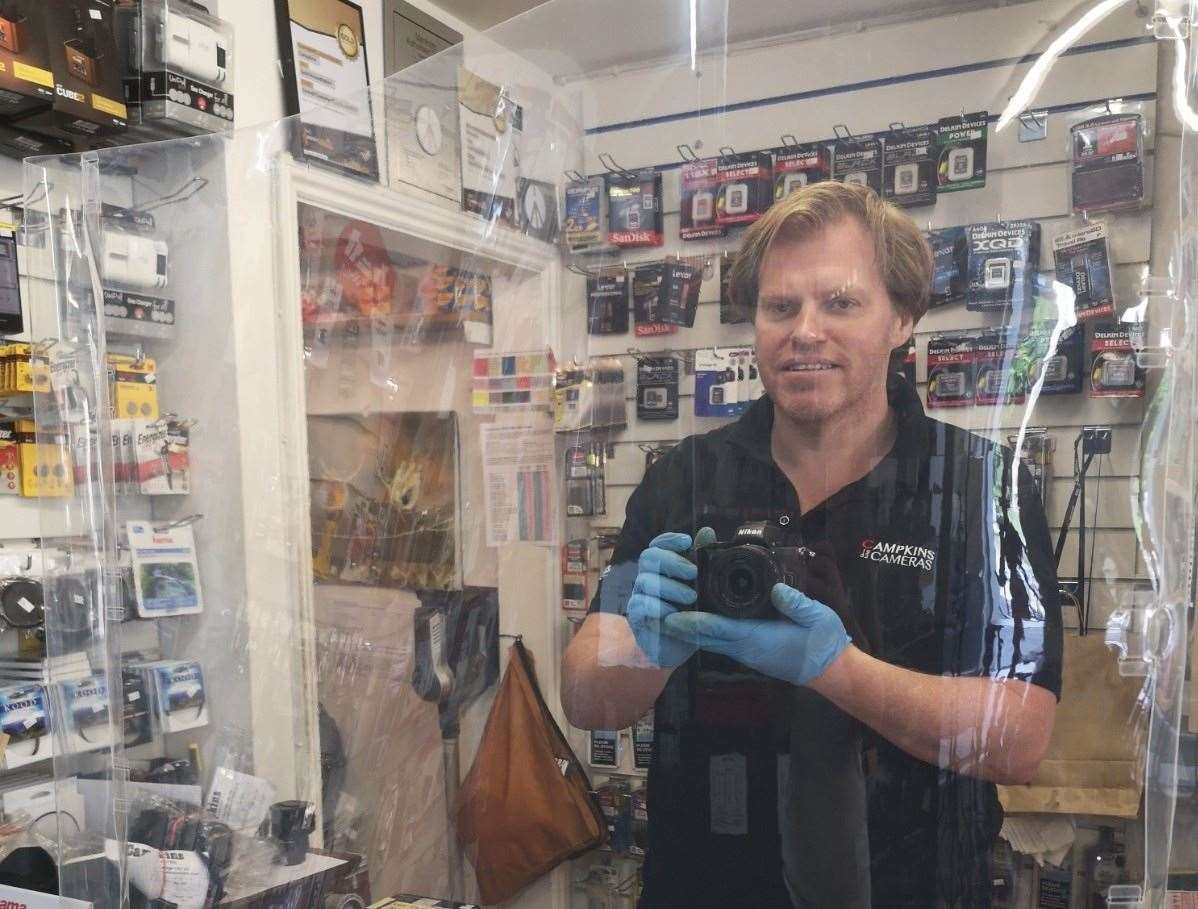 Owen Howell, owner of Campkins Cameras. Picture: Owen Howell