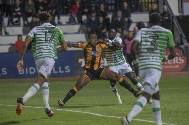 Uche Ikpeazu went close with a number of efforts for Cambridge United against Peterborough.