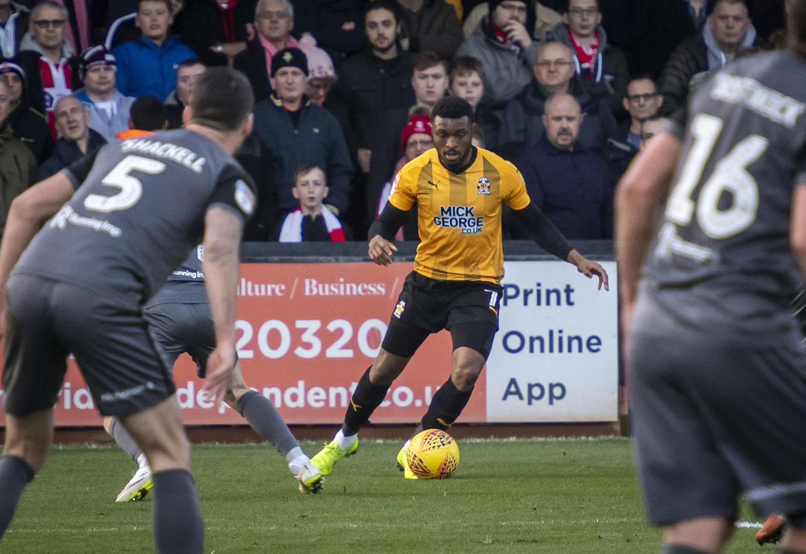 David Amoo scored for Cambridge United against Port Vale. Picture: Keith Heppell