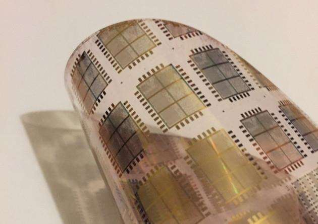 Flexible integrated circuit from PragmatIC Printing in Cambridge