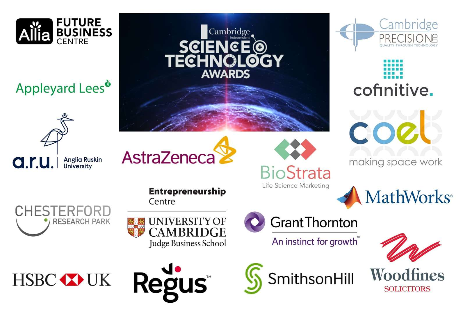 Sponsors of the 2019 Cambridge Independent Science and Technology Awards (20502391)