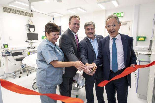 From left, Sue White, Neil MCcullough, Michael Gaunt and Justin Ash CEO at the £7m endoscopy unit official opening, Picture: Keith Heppell