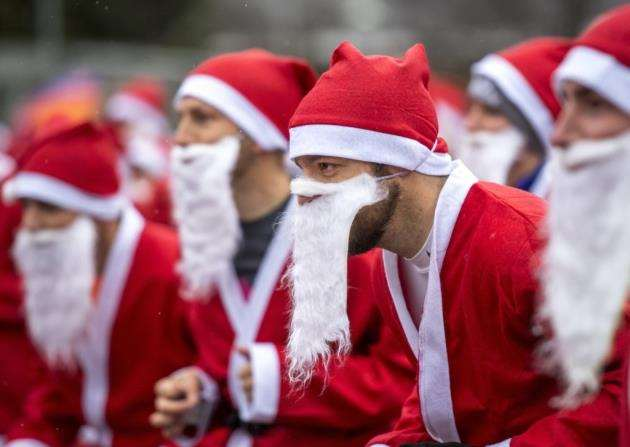 Santa Run event for EACH around the Cambridge Science Park for the second year running. Picture: Keith Heppell