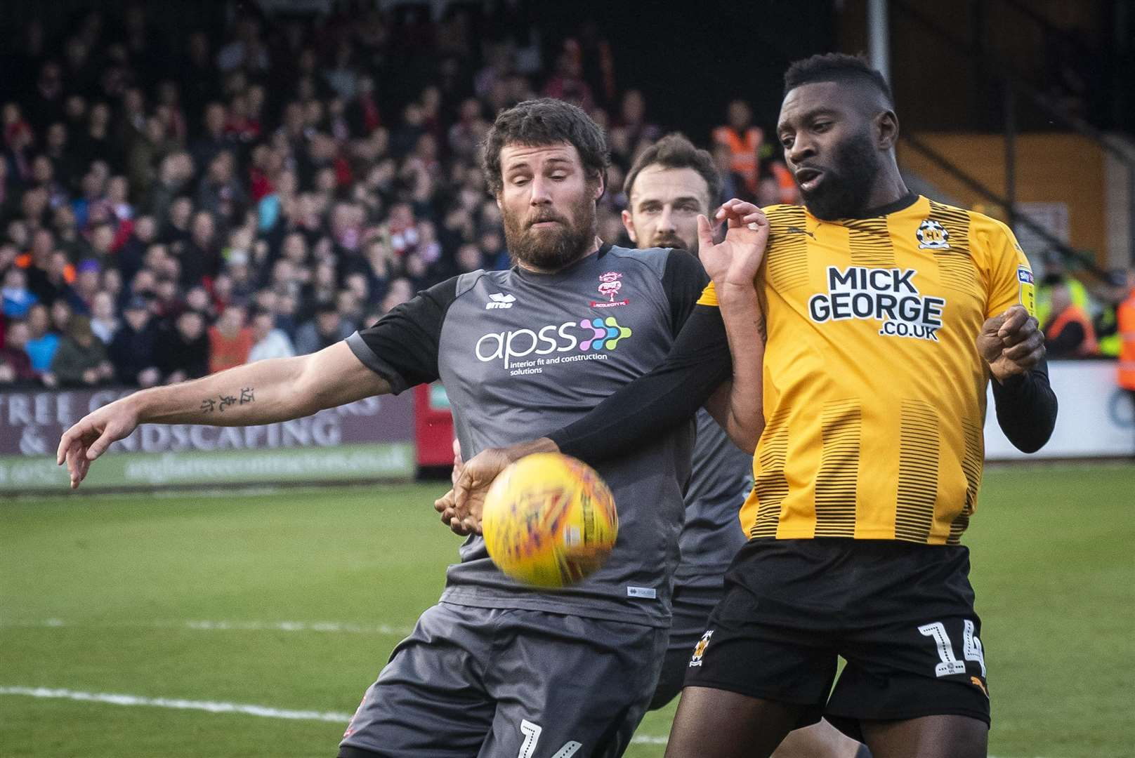 Cambridge United striker Jabo Ibehre.