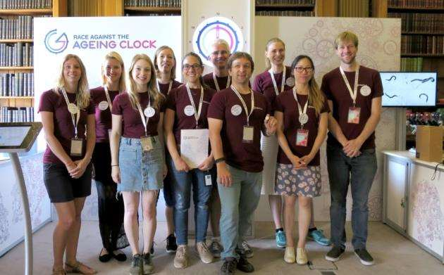The Babraham team at the Race Against the Ageing Clock exhibition at the Royal Society. Picture: Babraham Institute