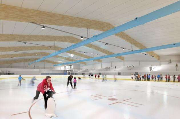 Cambridge Ice Arena - an artists impression of the rink