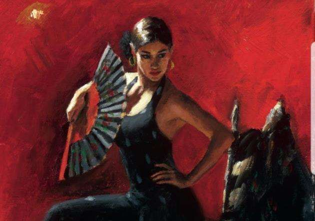 An artwork by Fabian Perez