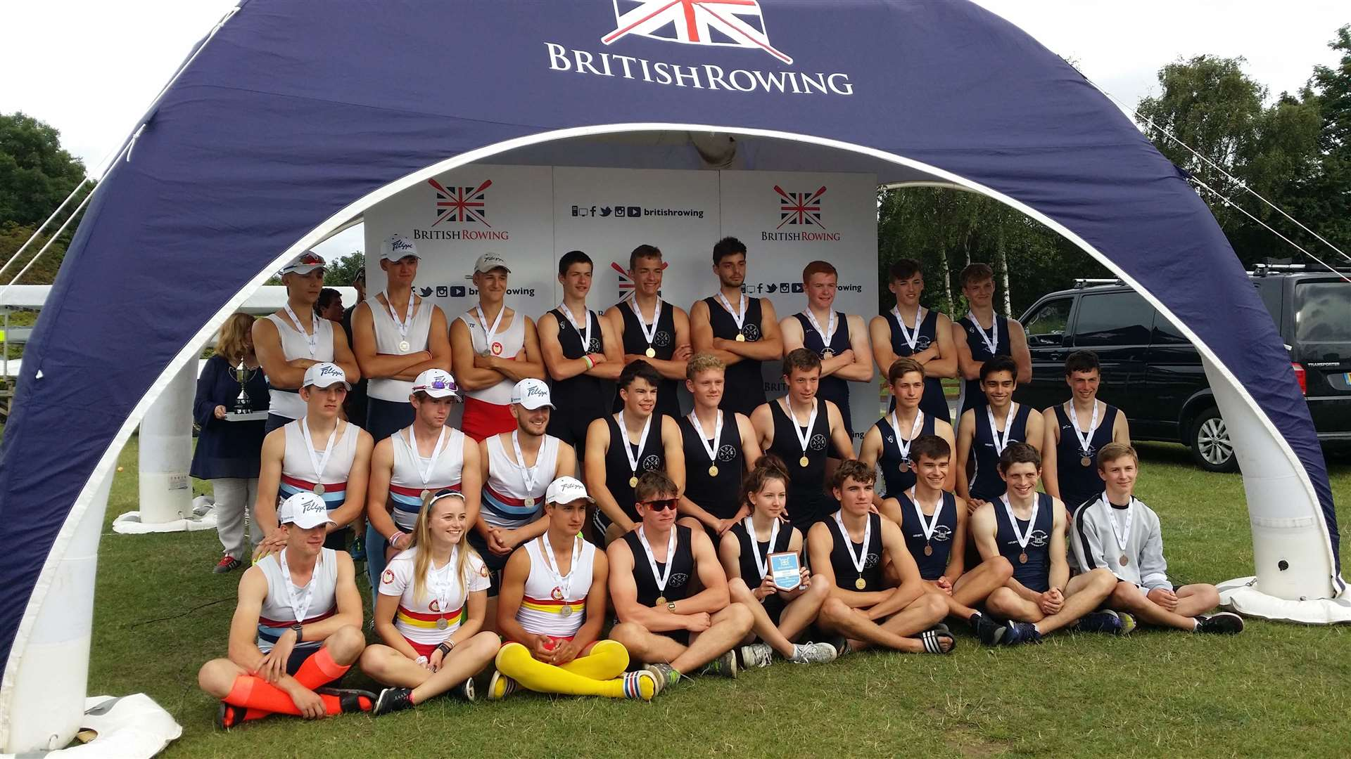 Cantabs junior rowers with their bronze medal at the British Junior Rowing Championships. Picture: Andy Johnson (14536061)