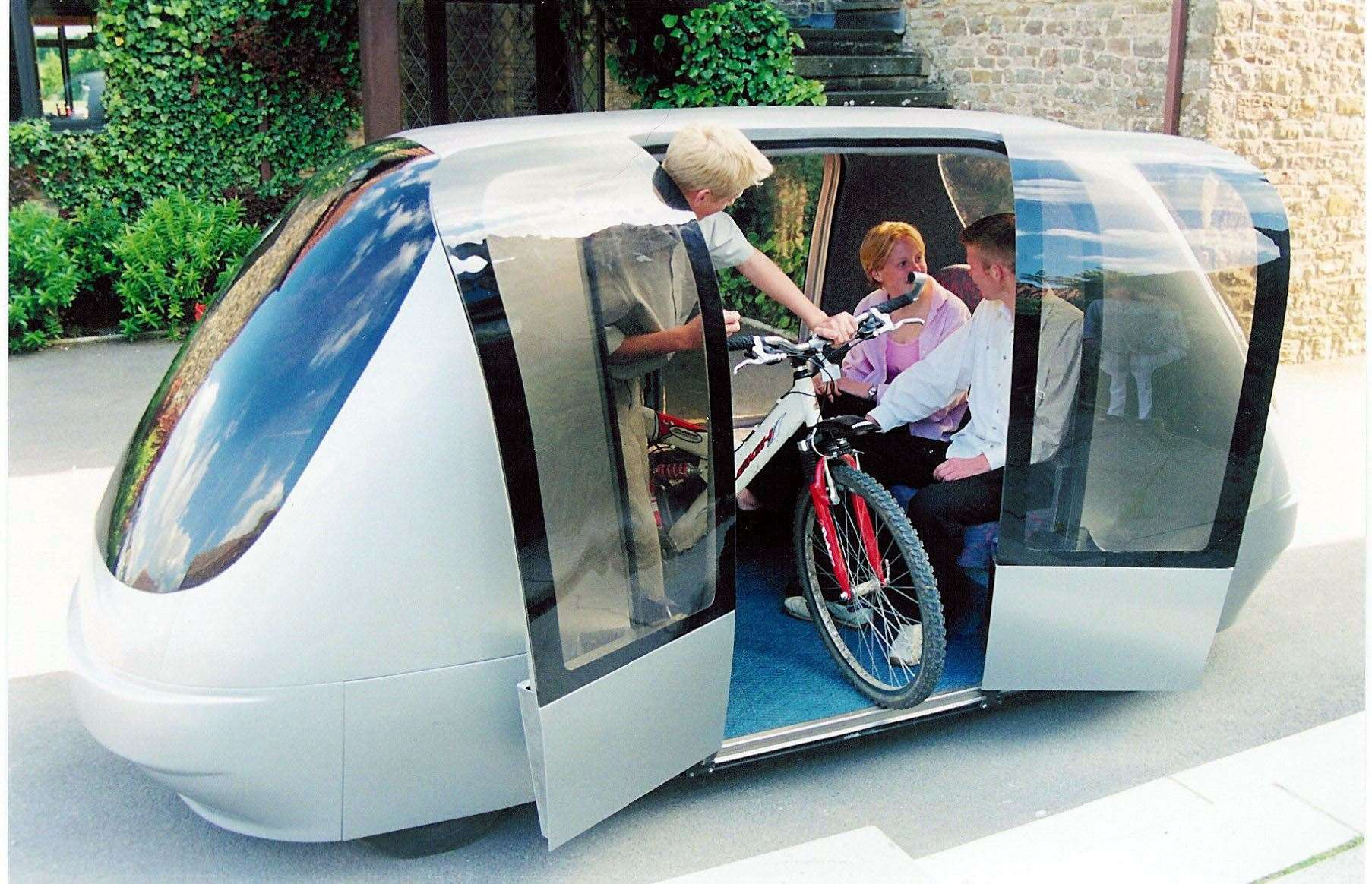 The ULTra, a revolutionary new rail transport system which carries passengers in driverless computer-controlled cabins, could provide a model for the car pods of the near future