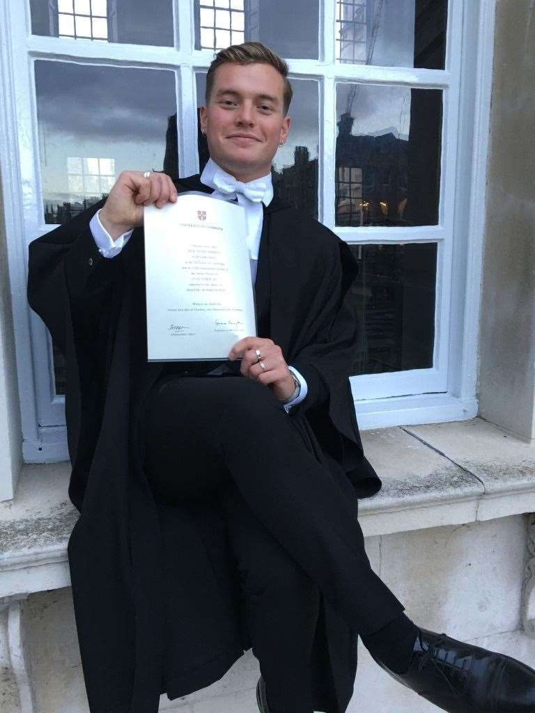 Jack Merritt, 25, who was killed in the London Bridge terror attack, completed an MA in criminology at the University of Cambridge (23081061)