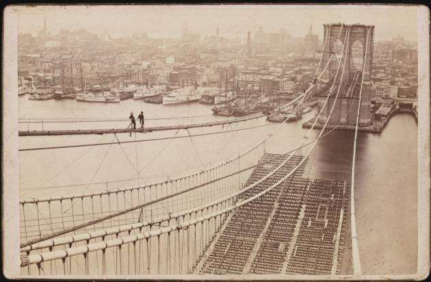 Image from Erica Wagners book Chief Engineer: The Man Who Built the Brooklyn Bridge, sourced by Bloomsbury Publishing and Ruth Killik