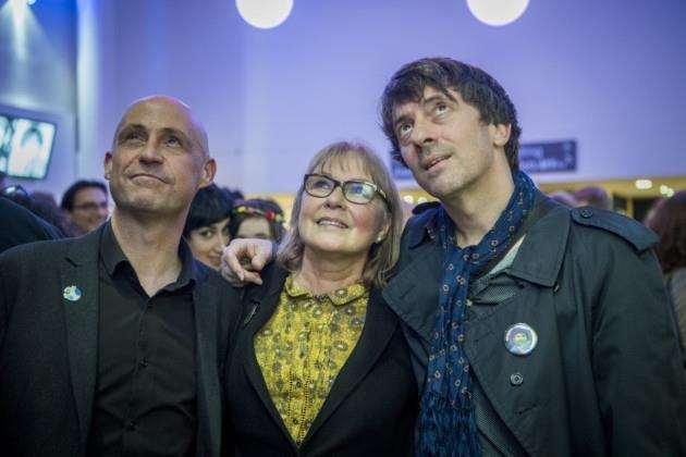 Operations director at Cambridge Live Neil Jones, Jenny Spires and Graham Coxon