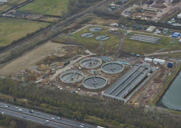 Anglian Water treatment works North Cambridge