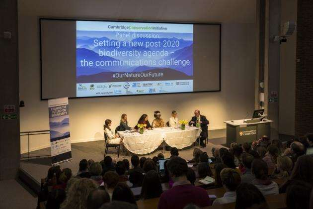 The panel discussion. Picture: Toby Smith/Cambridge Conservation Initiative