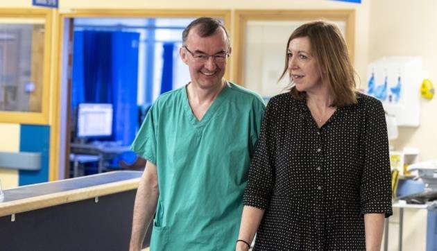From left Professor Chris Watson and ACT Chief Executive Shelly Thake in one of the wards. Picture: Keith Heppell