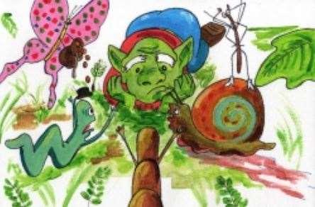 Gobble the Goblin es un libro escrito por Antoinette Nestor para que los niños comprendan la necesidad del reciclaje.