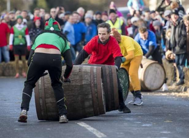 Grantchester barrel-rolling fun helps burn off the Christmas excess