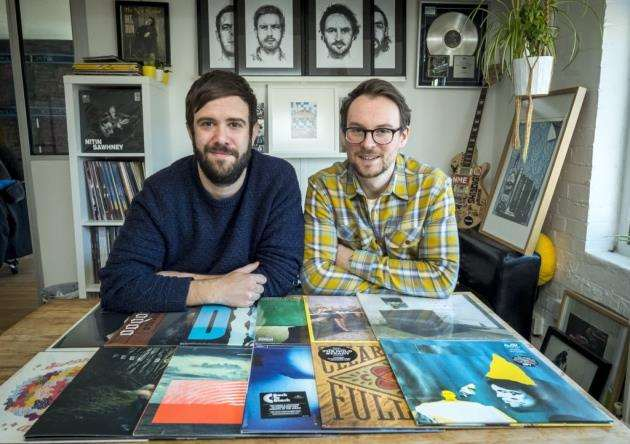 By the Time It Gets Dark, from left James Parrish and Jay Taylor, founders of a new Cambridge record label. Picture: Keith Heppell