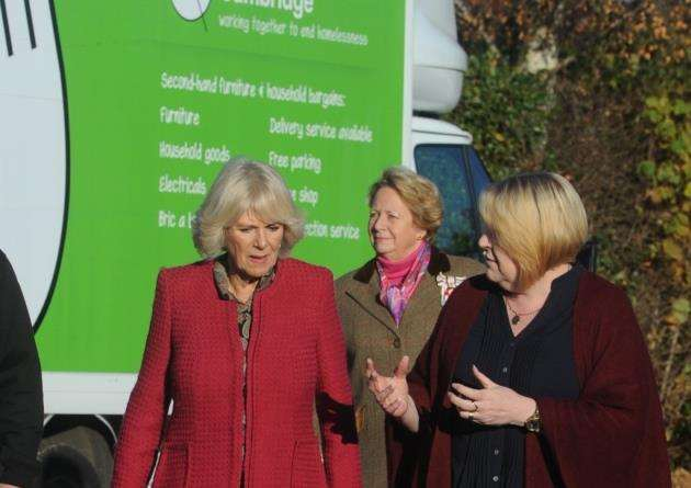 29/11/16 Camilla visit 29/11/16 - Camilla, Duchess of Cornwall during her visit to Emmaus in Landbeach. Picture: Keith Jones