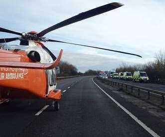 Magpas air ambulance landed on the A14 near Godmanchester (22033486)