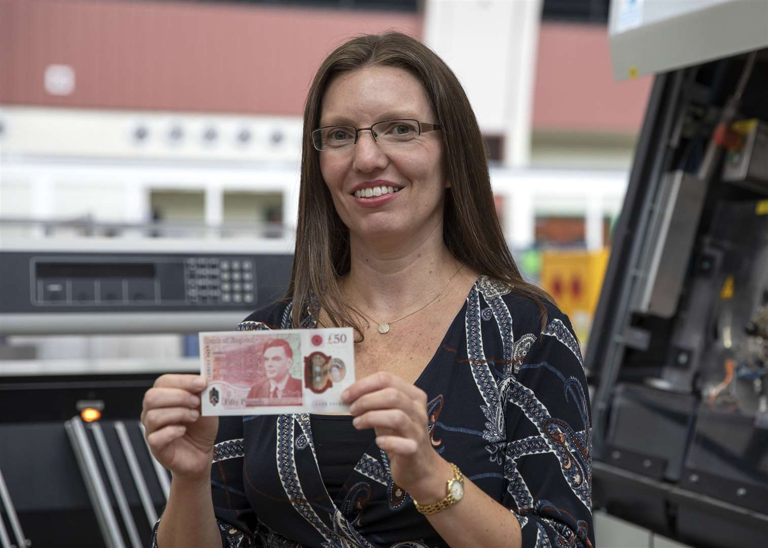 Sarah John, chief cashier at the Bank of England, holding the new ££50 note featuring scientist Alan Turing which will be issued for the first time on June 23, 2021. Picture: Bank of England