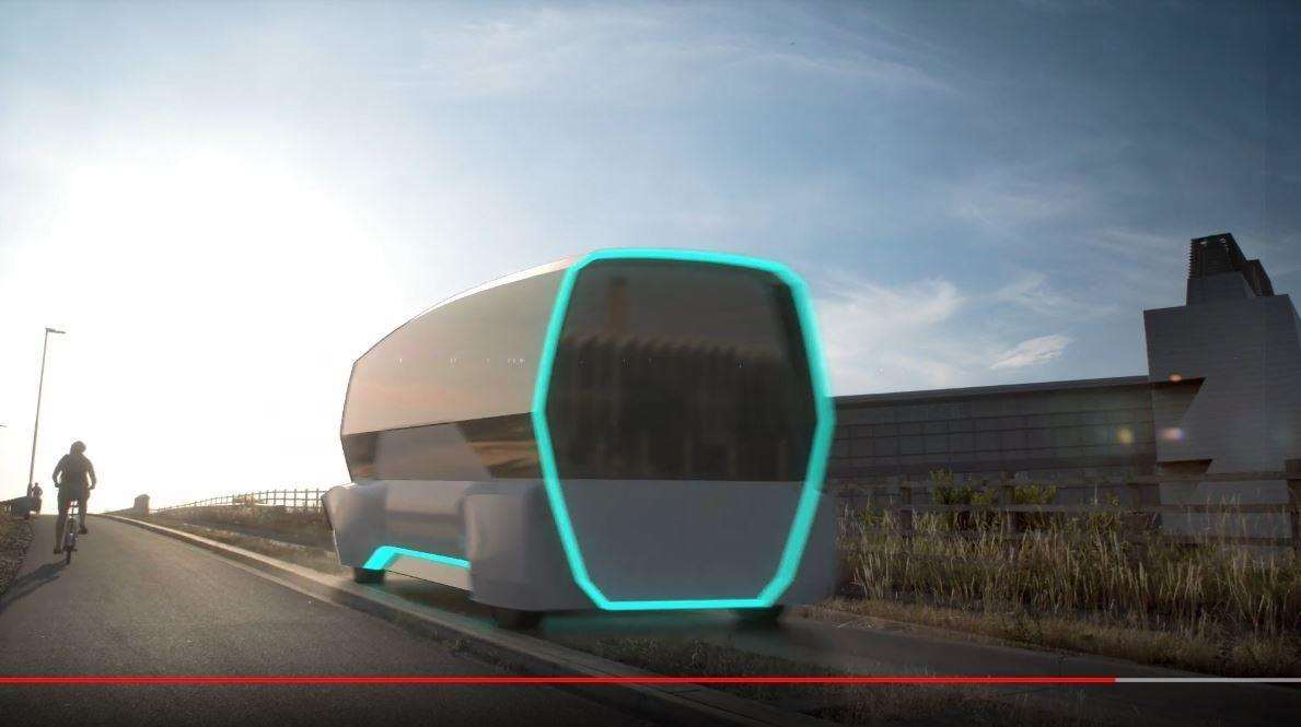 The Cam Bus, conference is shown a glimpse into the future of the city's transport