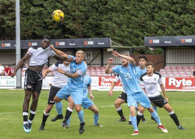 Josh Oyinsan scored a hat-trick for Cambridge City against Yaxley.