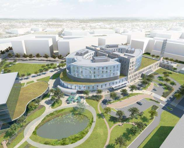 Papworth Hospital - artist impression - aerial view