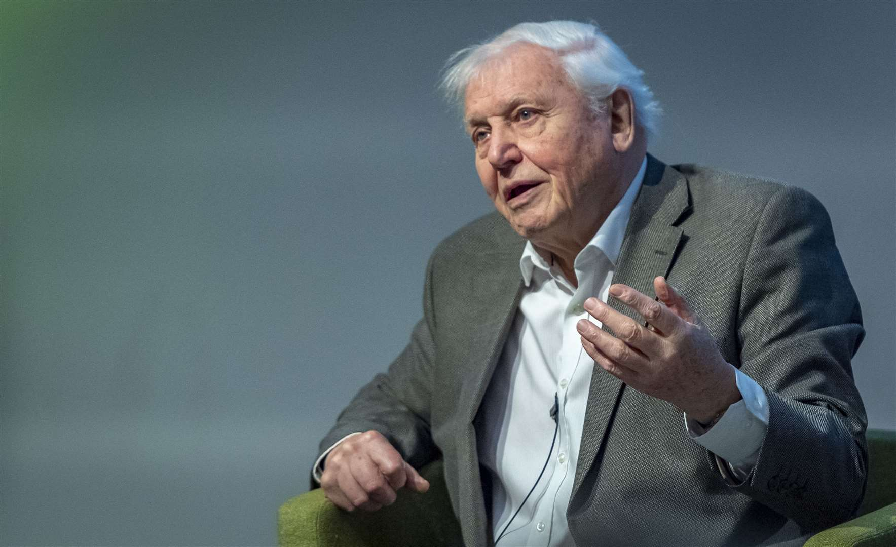 Sir David Attenborough at the twentieth Student Conference on Conservation Science series in Cambridge, Australia, Beijing, Bangalore, New York and Hungary is the only international series of conservation conferences aimed entirely at students. SCCS helps young conservation scientists gain experience, learn new ideas and make contacts that will be valuable for their future careers. Over the past 19 years, SCCS Cambridge has hosted over 3,200 delegates from 133 countries worldwide. Picture: Keith Heppell. (8269994)