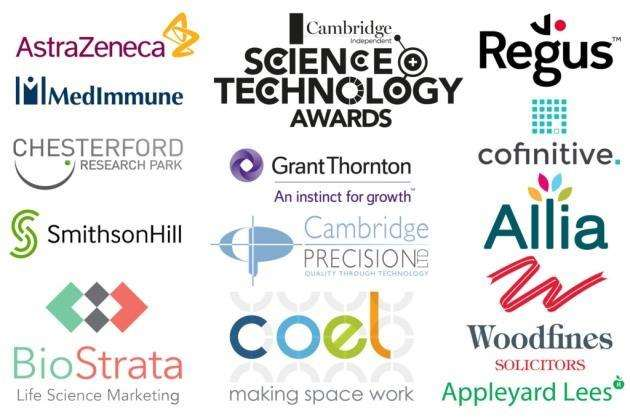 The sponsors of the Cambridge Independent Science and Technology Awards