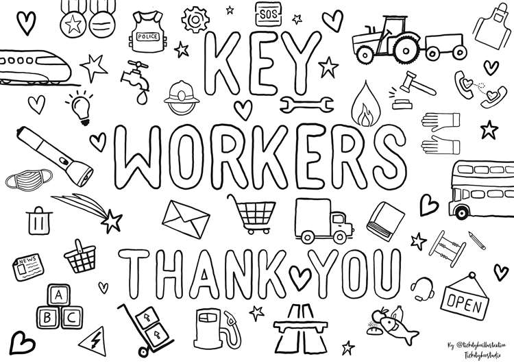 Coronavirus: Show Your Appreciation For Key Workers By Colouring This  Drawing
