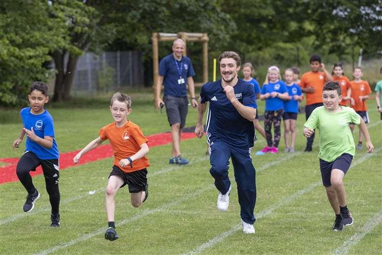 London Olympics bronze medallist Sam Oldham races to the