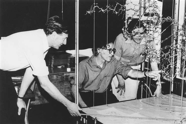 John Finch, Aaron Klug and Brian Clark Picture: Brian Clark 1974 / MRC LMB (5725304)