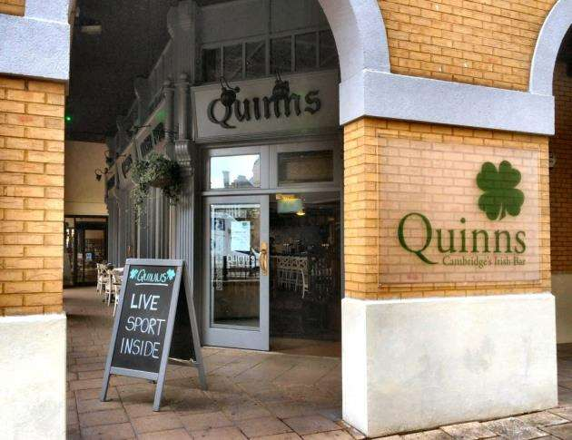Irish pub, Quinns, on Downing Street in central Cambridge