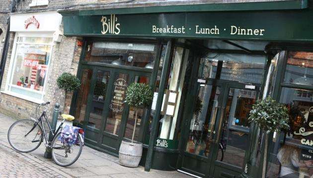 The front of Bills on Green Street, Cambridge. Picture: Richard Marsham