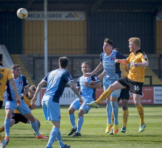 Cambridge United v Leyton Orient, Abbey Stadium, Newmarket Rd, Cambridge, Liam ONeil. Picture: Keith Heppell