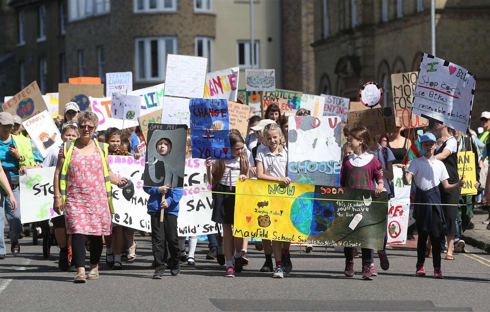 Pupils and students from 34 primary and secondary schools attended the fifth Youth Strike Cambridge. Picture: Richard Marsham