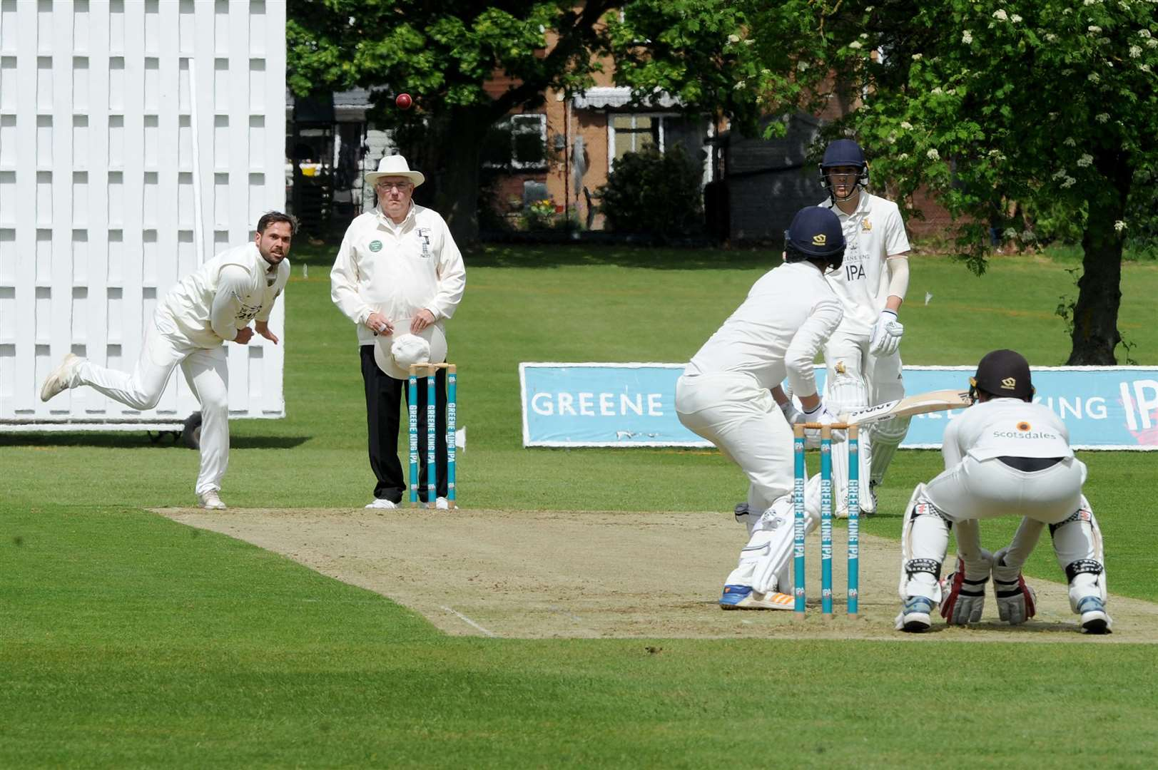 Lewys Hill was in form with bat and ball for Cambridge against Burwell & Exning. Picture: Mecha Morton