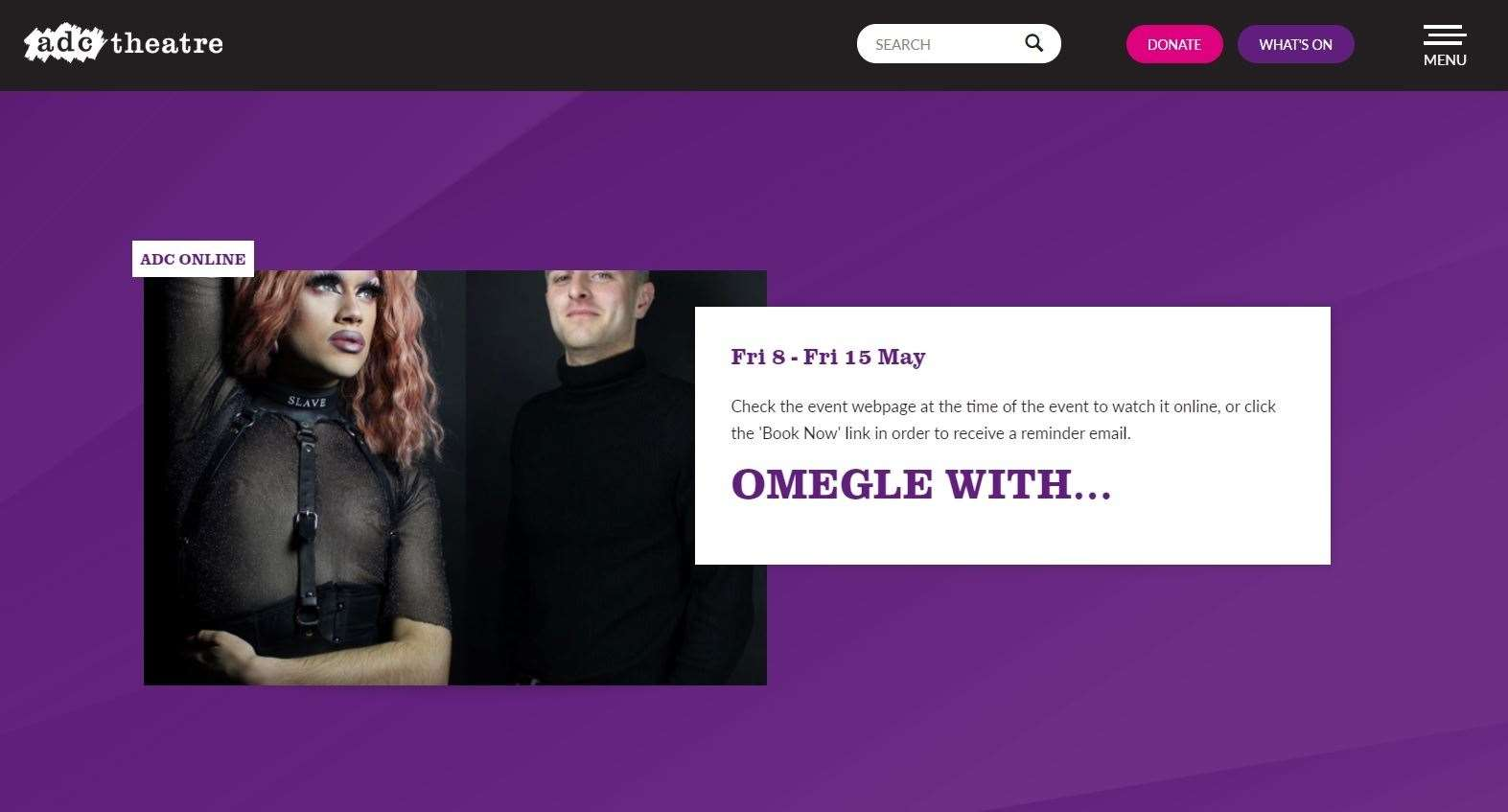 'Omegle With...' featured three Cambridge student drag artists chatting to a fickle host