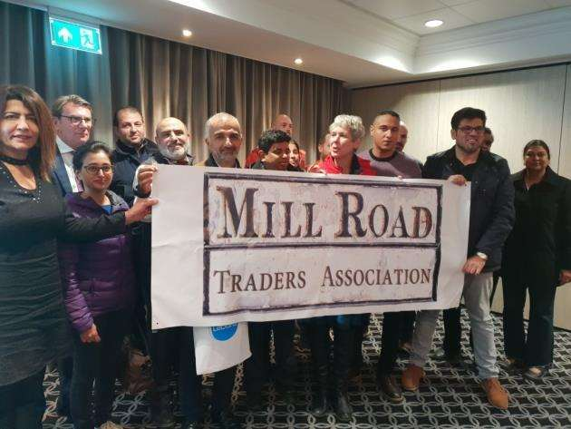 Traders and residents attended a public meeting about the closure of Mill Road Bridge