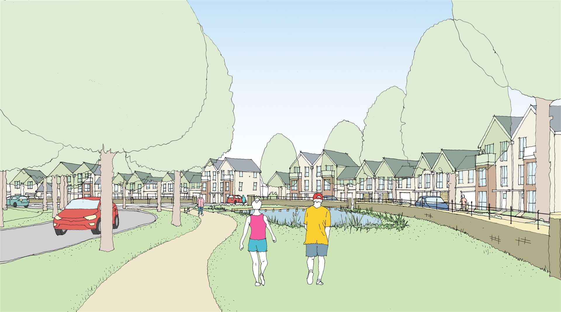 An artist's impression of Cambourne West. Image: Bovis Homes (24836220)