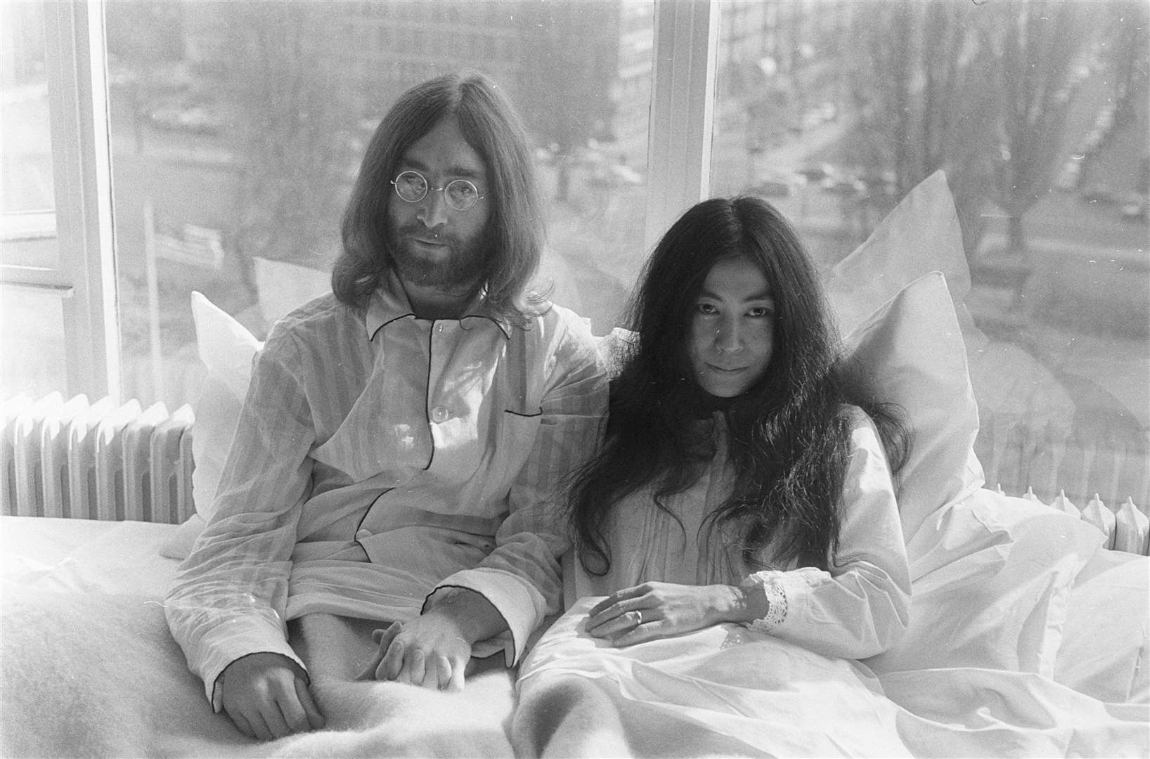 John and Yoko a couple of months after their Cambridge concert in 1969. Picture: Eric Koch/Anefo