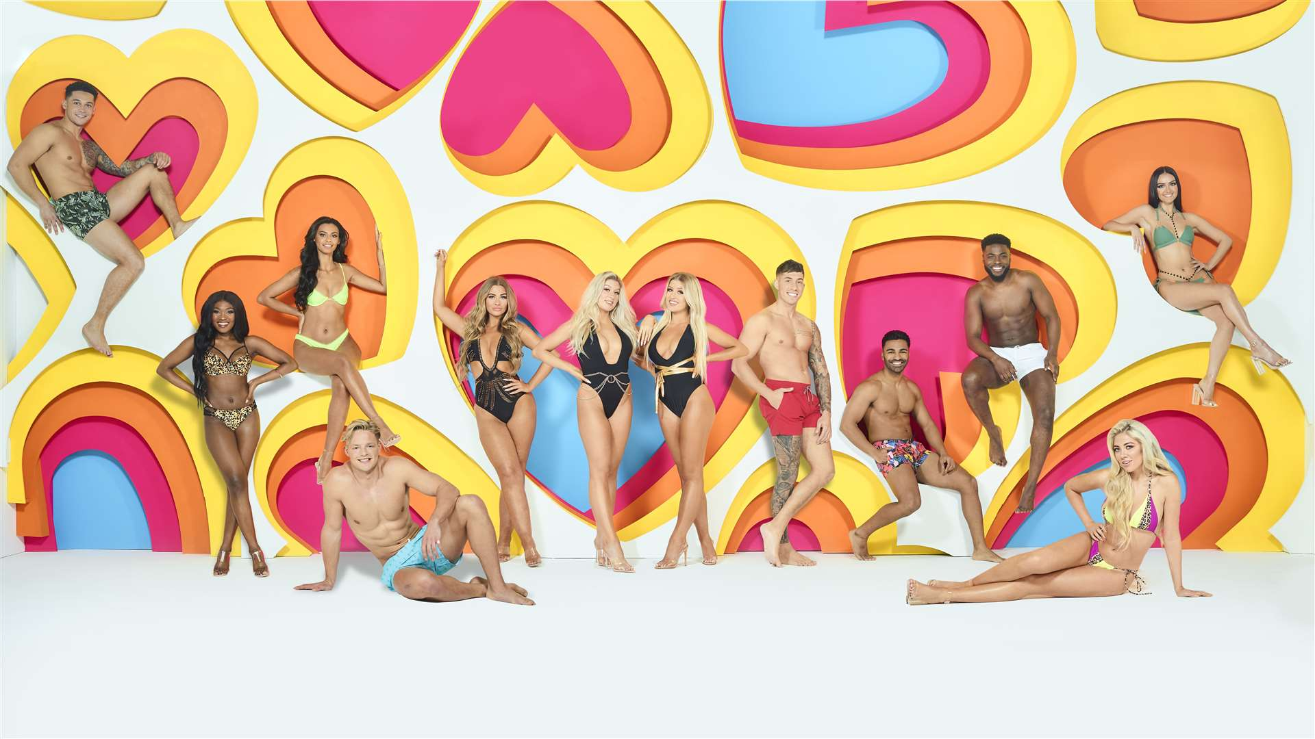 All the contestants for the new series of Winter Love Island, starting on Sunday